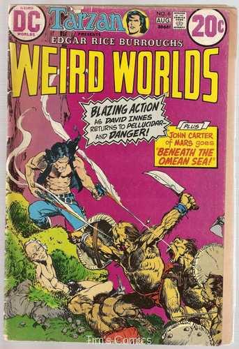 Weird Worlds #6 John Carter Warlord of Mars DC Comics Aug 1973 FR