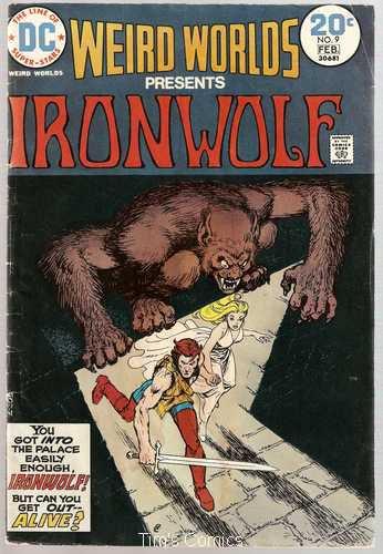 Weird Worlds #9 Iron Wolf DC Comics Feb. 1974 FR