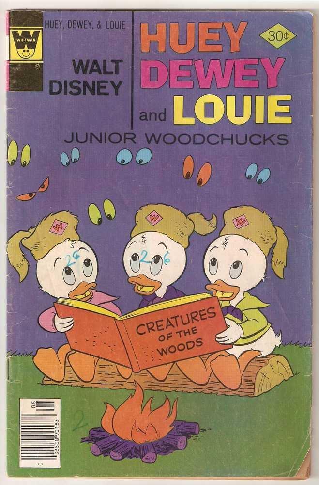 Huey Dewey and Louie Junior Woodchucks (Whitman) #45 Aug 1977 Walt Disney GD