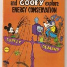 Mickey Mouse and Goofy Explore Energy Conservation #1 1978 Walt Disney VG