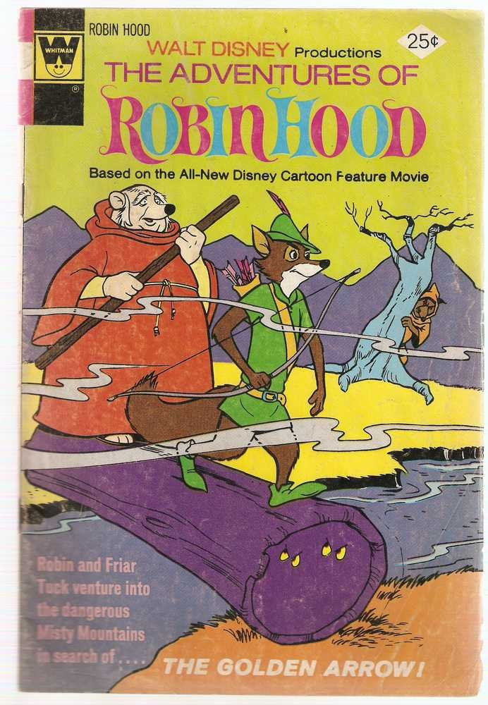 Adventures of Robin Hood (1974 Whitman) #5 Sept. 1974 Walt Disney GD