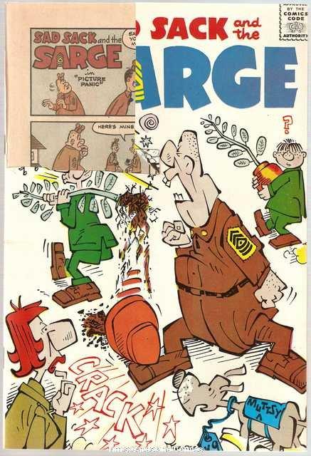Sad Sack and the Sarge #55 Harvey Comics June 1966 FR