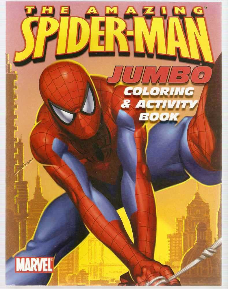 Amazing Spider Man Jumbo Coloring And Activity Book Marvel