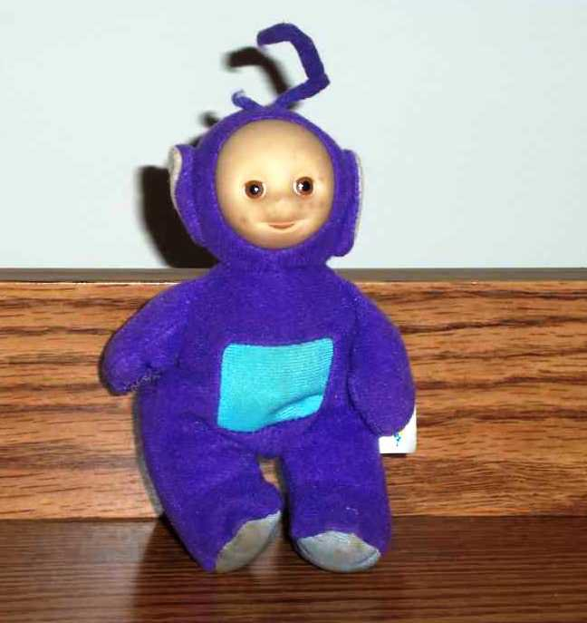 Burger King Teletubbies Tinky Winky Purple With Clip Kids