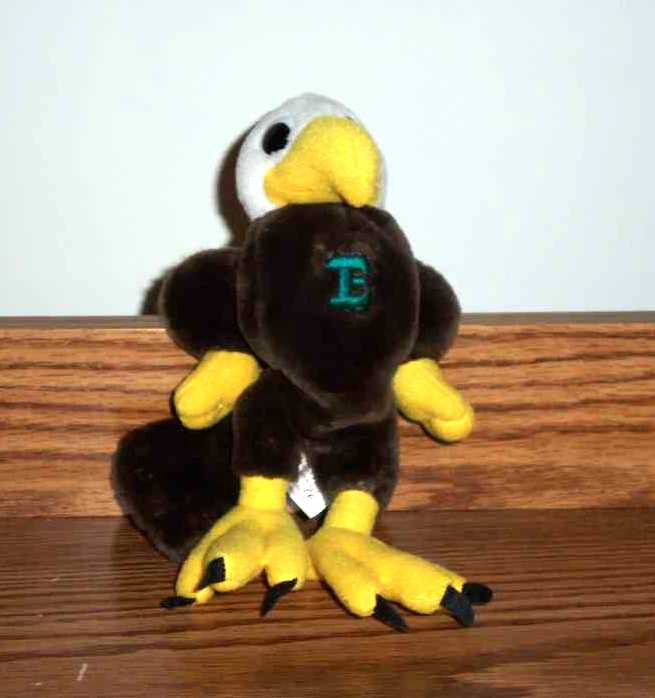 Asi mighty eagle with green e on chest plush toy loose - Mighty eagle plush toy ...