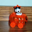 Peanuts Snoopy Candy Holder Toy Pumpkin Car Galerie Loose