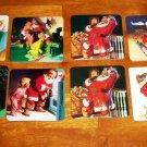 Coca-Cola Christmas Coaster Lot of 8 Coke Santa Claus Loose