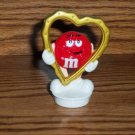 M&M Red Heart Frame Valentine's Day Topper 1998 Loose Used