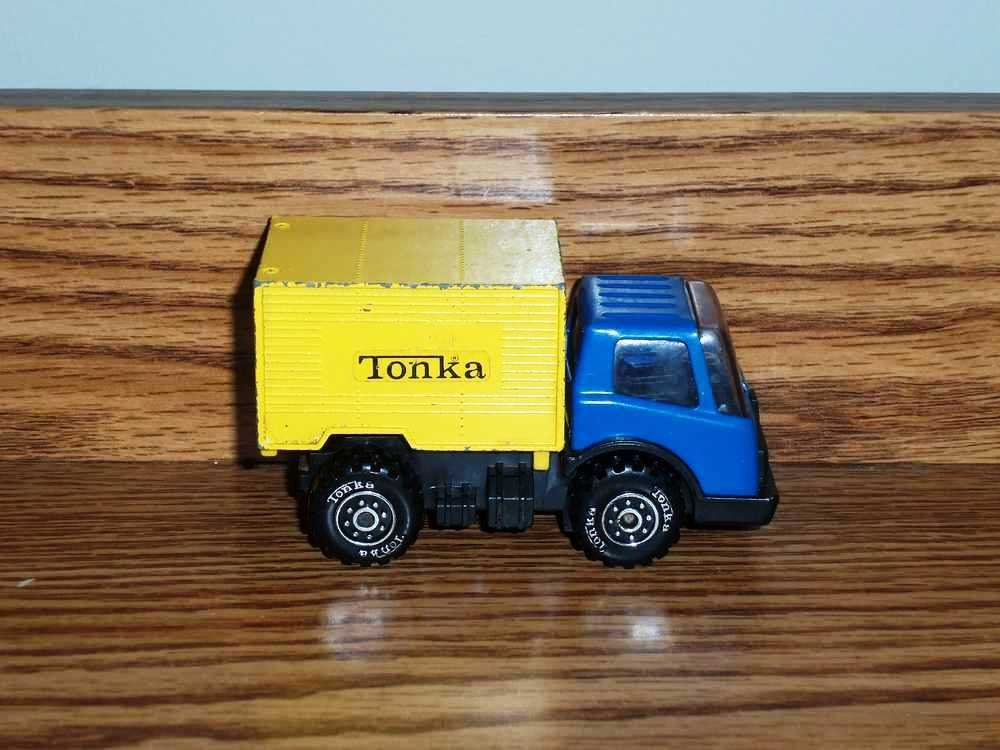 vintage tonka blue and yellow box truck loose used. Black Bedroom Furniture Sets. Home Design Ideas