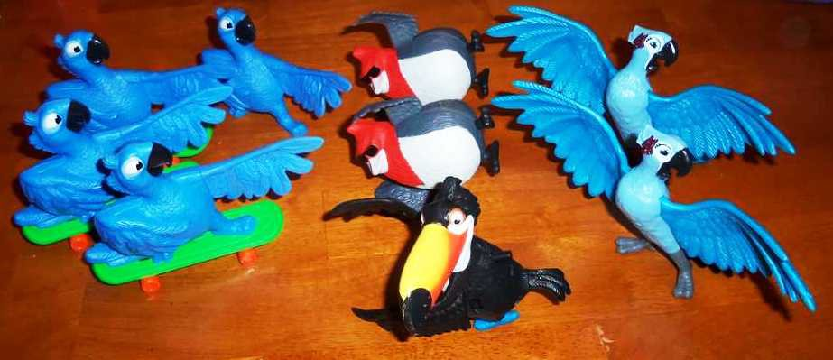 McDonald's Rio the Movie Happy Meal Toys Lot of 9 Loose Used