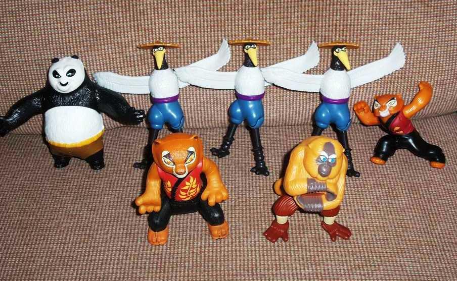 Mcdonald's 2011 Kung Fu Panda II Happy Meal Toy Lot Loose Used