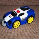Fisher Price Shake 'n Go Crash Ups Police Car Toy Mattel Loose Used