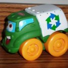 Playskool Wheel Pals Green and White Recycle Truck Loose Used