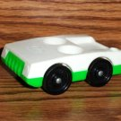 Fisher-Price Little People White and Green Two-Seat Car Wheels Marked Fisher-Price Toys Loose Used