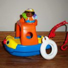 Fisher-Price Little People Sail 'n Float Boat w/ Figure M0252 Mattel 2007 Loose Used