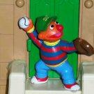 Sesame Street Applause Ernie Playing Baseball PVC Figure Loose Used