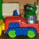 Sesame Street Playskool Oscar in Bulldozer Diecast 1986 Loose Used