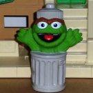 """Sesame Street Oscar in Garbage Can 4.5"""" Vinyl Figure Loose Used"""