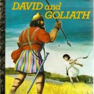 David and Goliath Little Golden Book 14th Printing Used