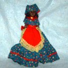 """Vintage 7 1/2"""" African-American Doll with 1800's Type Dress Loose Used"""