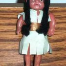 "Vintage Small 3.5"" Native American Indian Doll Loose Used"