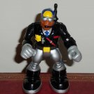 Fisher-Price Rescue Heroes Jake Justice Black and Silver Outfit Loose Used
