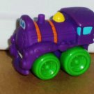 Playskool Tonka Wheel Pals Mini Purple  Train Engine with Green Wheels Loose Used