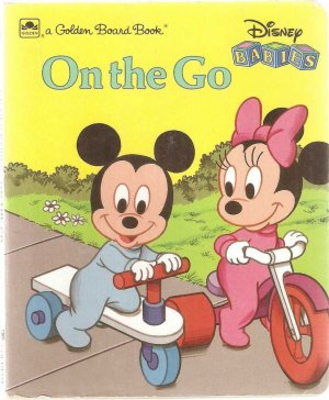Disney Babies On The Go Golden Board Book Mickey Mouse Minnie Used