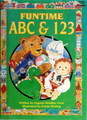 Funtime ABC and 123 Hardcover Book Used