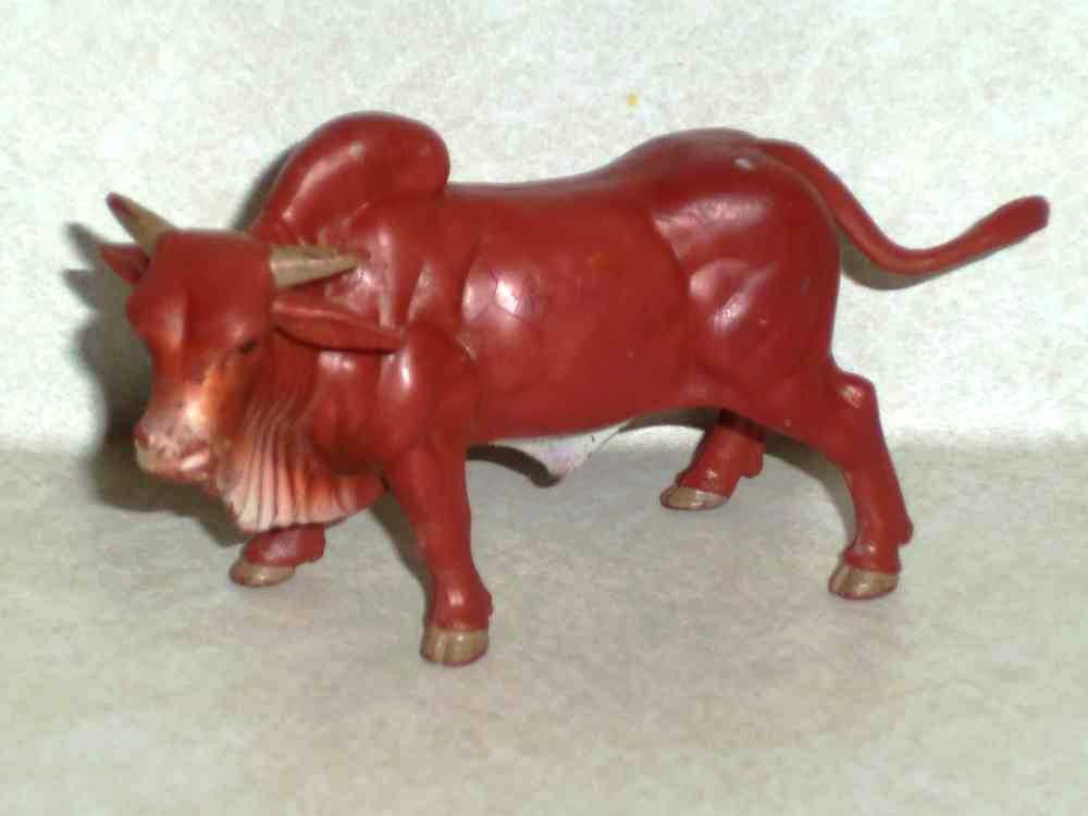 Ertl Farm Country Brahman Bull Plastic Toy Animal Loose Used