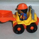 Fisher-Price L4792 Little People Roberto & His Loader Loose Used
