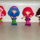 McDonald's 2010 Strawberry Shortcake Set of 6 Dolls Happy Meal Toys Loose Used