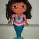 Fisher-Price #N3584 Dora the Explorer Swim and Splash Mermaid Dora Doll w/ Comb Loose Used