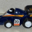 Toysmith #3012 Zoomsters Mini Racers Blue #20 Formula 1 Race Car Loose Used