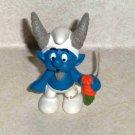 Schleich 2010 Zodiac Smurfs:Capricorn Smurf PVC Figure #20717 with Tag Loose Used