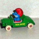 Ertl 1982 Papa Smurf Smurfster Die-Cast 1/64 Scale Car Loose Used