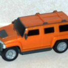 McDonald's 2006 Hummer H3 SUV Orange Happy Meal Toy Loose Used