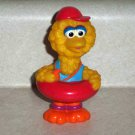 Big Bird Figure from Tyco 1995 Sesame Street Tub Puzzle Loose Used