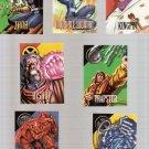 Marvel Vision 1996 Fleer/Skybox Lot of 7 Cards