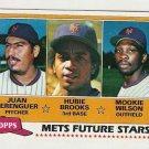 1981 Topps Baseball Card #259 Juan Berenguer Hubie Brooks RC Mookie Wilson Rookie NM