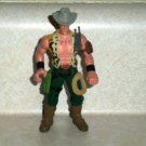 """Chap Mei Wildboar Max Gray Hat Green Pants 4"""" Action Figure Loose Used"""