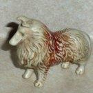 "2"" Collie Dog Plastic Toy Animal Loose Used"