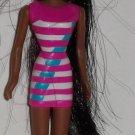 McDonald's 1998 Barbie Bead Blast Christie Barbie Doll Happy Meal Toy Loose Used