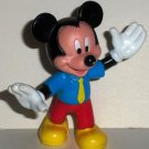 Disney Mickey Mouse Blue Shirt Yellow Tie PVC Figure Loose Used