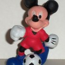 Disney Mickey Mouse Soccer Player Red Suit PVC Figure Loose Used