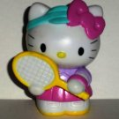 Hello Kitty with Tennis Racket PVC Figure Loose Used