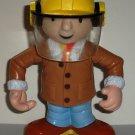 Hasbro 2001 Bob The Builder Plastic Figure w/ Safety Mask & Coat Loose Used