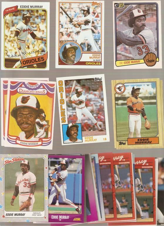 Eddie Murray Lot of 90 Baseball Cards Topps Fleer Donruss Baltimore Orioles