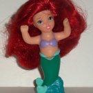 Disney's Little Mermaid Ariel Plastic Figure with Rooted Hair Mattel 2002 Loose Used