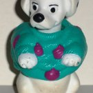 McDonald's 1996 Disney's 101 Dalmatians Dog Teal Purple Sweater Happy Meal Toy Loose